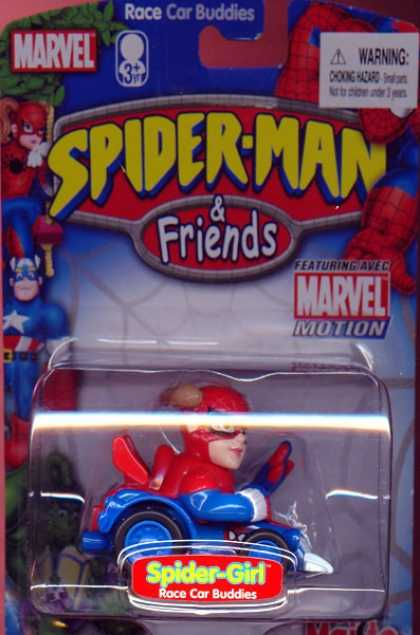 Action Figure Boxes - Spider-Girl Race Car Buddies