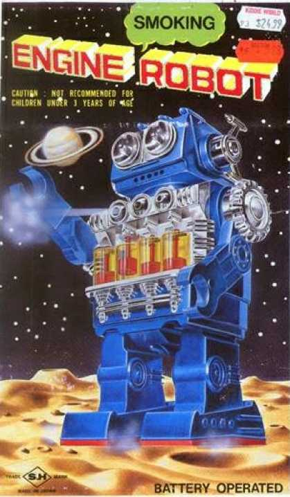 Action Figure Boxes - Smoking Engine Robot