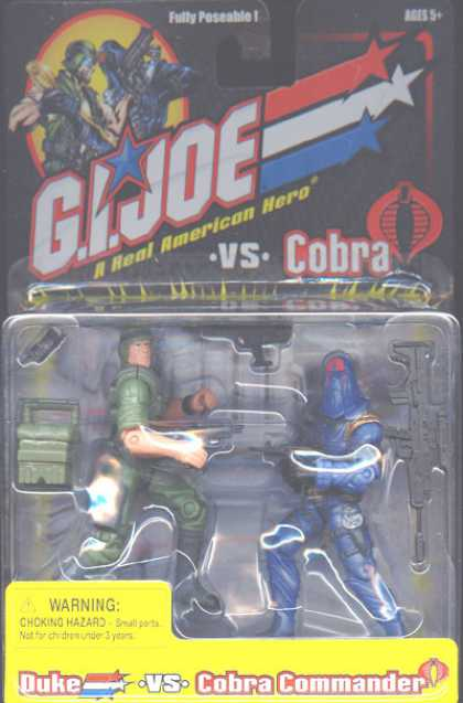 Action Figure Boxes - G.I. Joe: Duke vs Cobra Commander