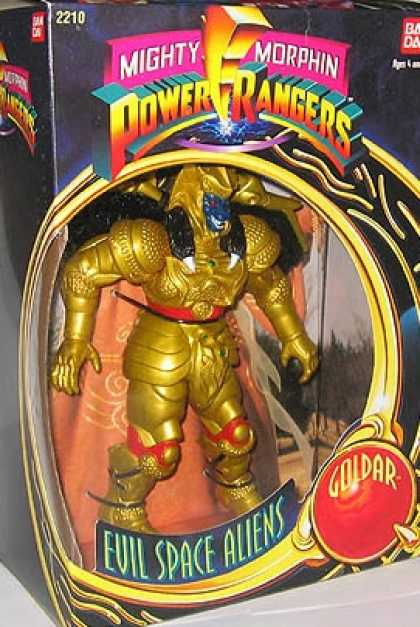 Action Figure Boxes - Power Rangers: Evil Space Aliens Goldar