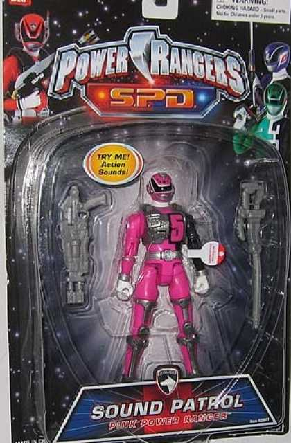 Action Figure Boxes - Power Rangers: Sound Patrol