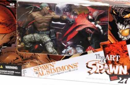 Action Figure Boxes - Art of Spawn: Spawn vs Al Simmons