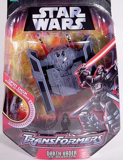 Action Figure Boxes - Star Wars Transformers: Darth Vader/ TIE Advanced
