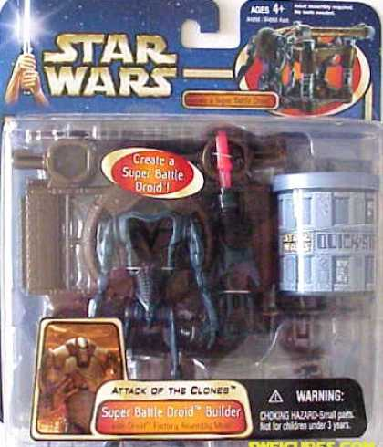 Action Figure Boxes - Star Wars Attack of the Clones: Super Battle Droid Builder