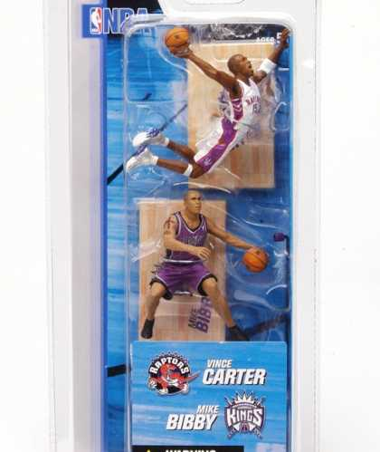 Action Figure Boxes - NBA: Vince Carter and Mike Bibby