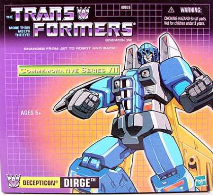 Action Figure Boxes - Transformers: Decepticon Dirge