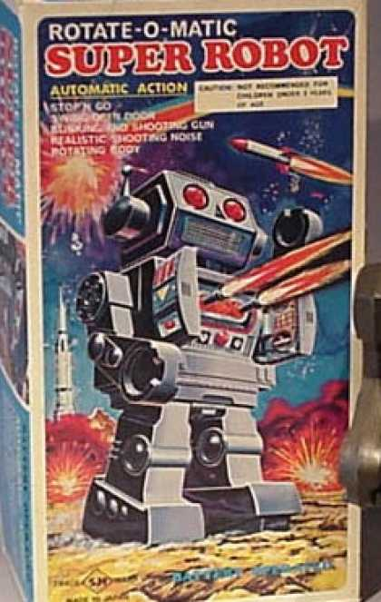 Action Figure Boxes - Rotate-o-Matic Super Robot