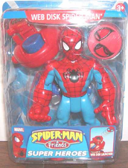 Action Figure Boxes - Spider-Man Friends: Web Disk Spider-Man