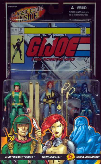 Action Figure Boxes - G.I. Joe: Alvin Kibbey, Agent Scarlett, Cobra Commander