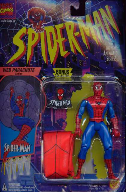 Action Figure Boxes - Spider-Man Web Parachute