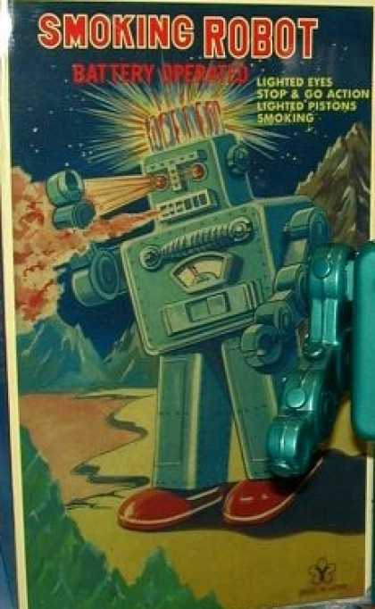 Action Figure Boxes - Smoking Robot