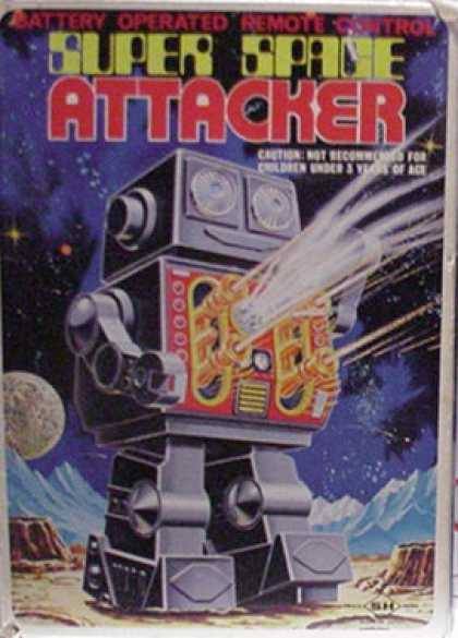 Action Figure Boxes - Super Space Attacker