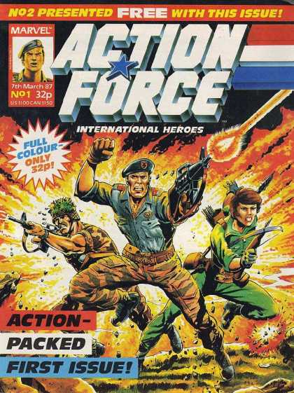 Action Force 1 - Marvel - March - Military - Weapons - Guns