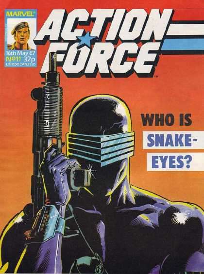 Action Force 11 - Gun - Snake Eyes - Black - Visor - Muscles