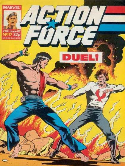 Action Force 17 - Marvel - June - Duel - Muscles - Fire