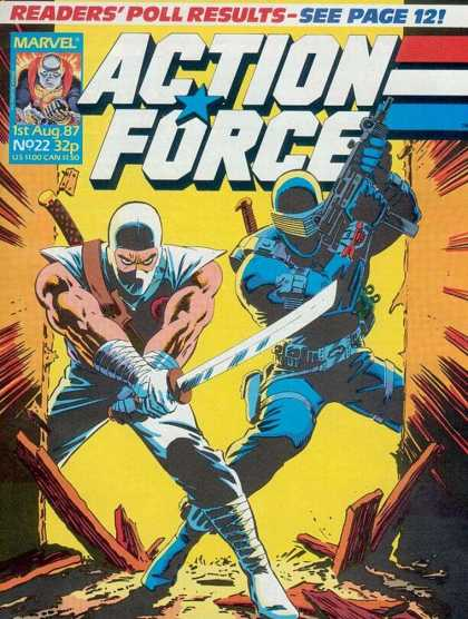 Action Force 22 - Marvel - Marvel Comics - Gijoe - Snakes Eyes - Storm Shadow