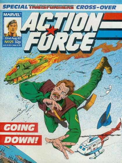 Action Force 25 - Marvel - 22nd Aug 87 - Special Transformers Cross-over - Going Down - Cap