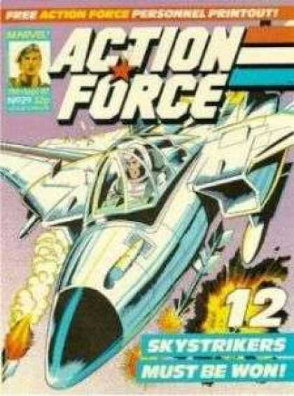 Action Force 29 - Spaceship - Bomb - Fire - Explosion - Wings
