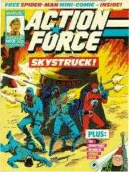 Action Force 32 - Gi Joe - Cobra - Marvel - Skystruck - Comic
