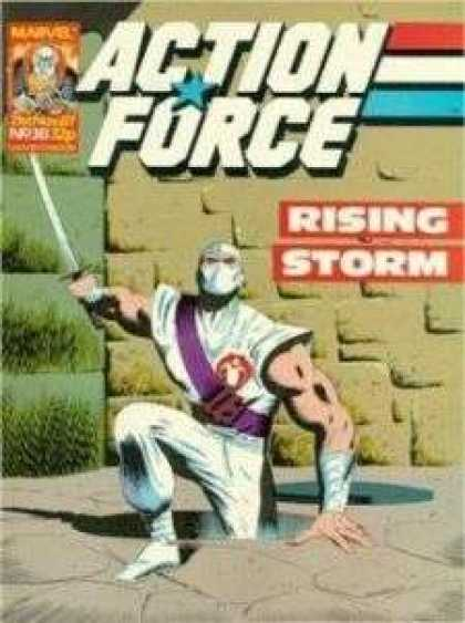Action Force 38 - Action Force - Rising Storm - Ninja - Sword - Purple Sash