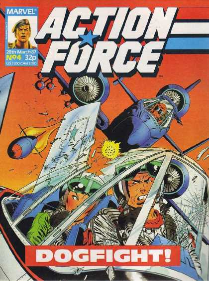 Action Force 4 - Aircraft - Airplanes - Pilots - Marvel - Dogfight