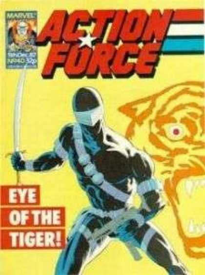 Action Force 40 - Eye Of The Tiger - Ninja - Sword - Snake Eyes - Gi Joe