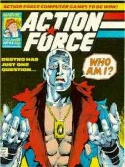 Action Force 44 - G I Joe - Destro - Who Am I - Marvel - Silver