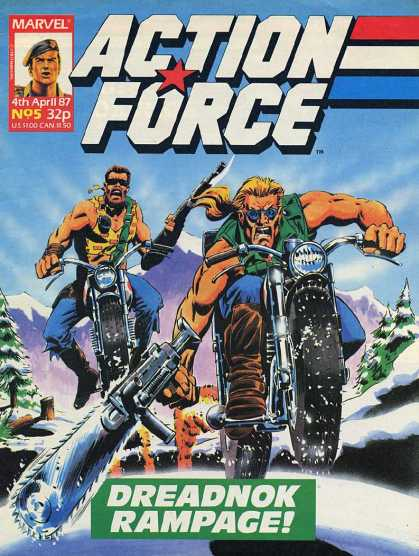 Action Force 5 - Marvel - Byke - Guns - Men - Snow