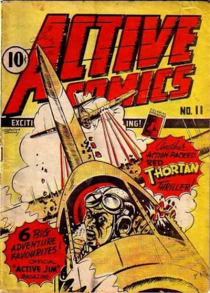 Active Comics 11 - Adventure - Attack - Airplanes - Thriller - Red Thortan