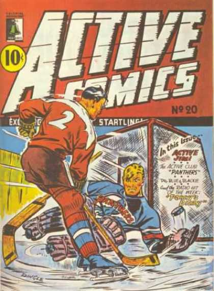 Active Comics 20 - Panthers - Goal - Puck - Hockey - Ice