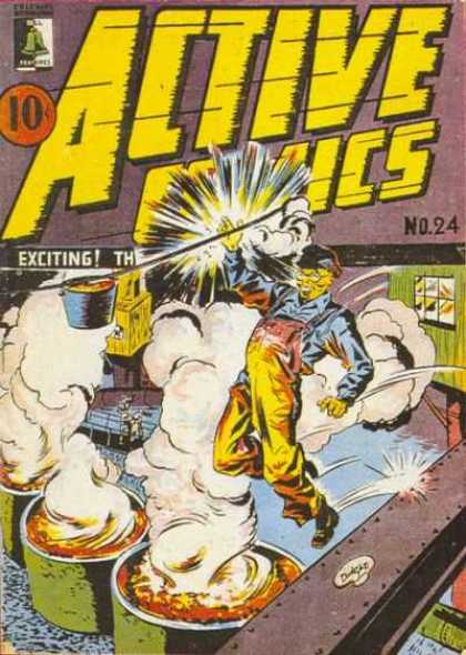 Active Comics 24 - Barrels - Explode - Worker - No 24 - Steel