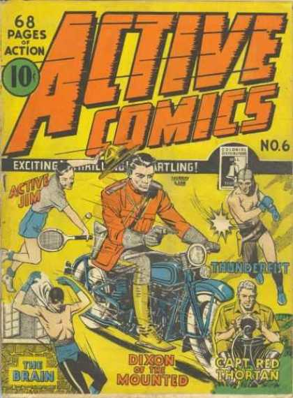 Active Comics 6 - Active Jim - Thunderfist - Motorcycle - Tennis - The Brain