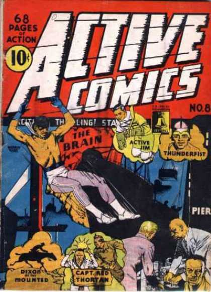 Active Comics 8 - 68 Pages Of Action - Brain - Man - Thunderfist - Active Jim