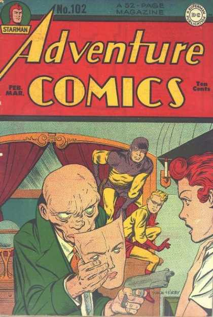 Adventure Comics 102 - Mask - Starman - Gun - Robbery - Superhero - Jack Kirby