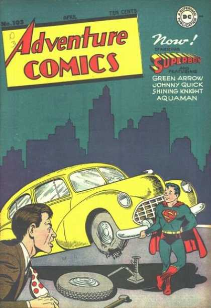 Adventure Comics 103 - Superboy - Car - Green Arrow - Johnny Quiclk - Shining Knight - Joe Shuster