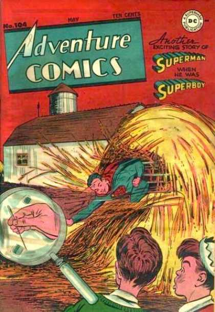 Adventure Comics 104 - Superboy - Haystack - Superman - Barn - Needle