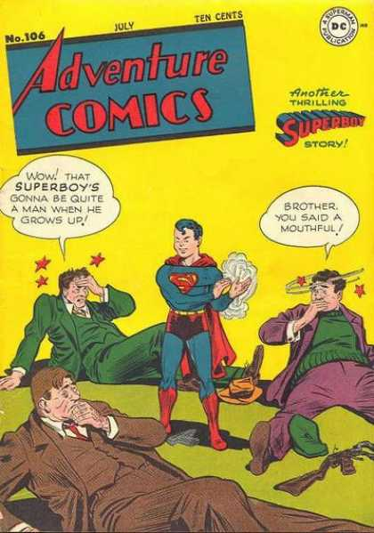 Adventure Comics 106 - Superboy - Stars - Gun - Goons - Guns