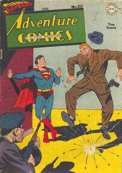 Adventure Comics 117 - Superboy - Bullets - Guns - Tommy Gun - Suit - George Roussos