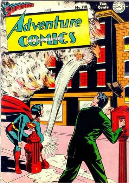 Adventure Comics 118 - Fire - Hat - Superboy - Hydrant - Fire Hydrant - George Roussos