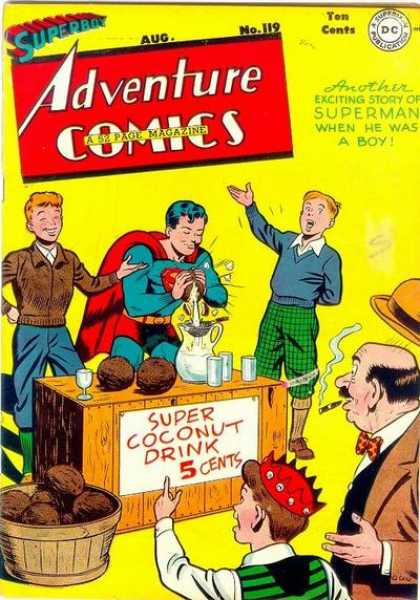 Adventure Comics 119 - Superboy - Coconut - Stand - Cigar