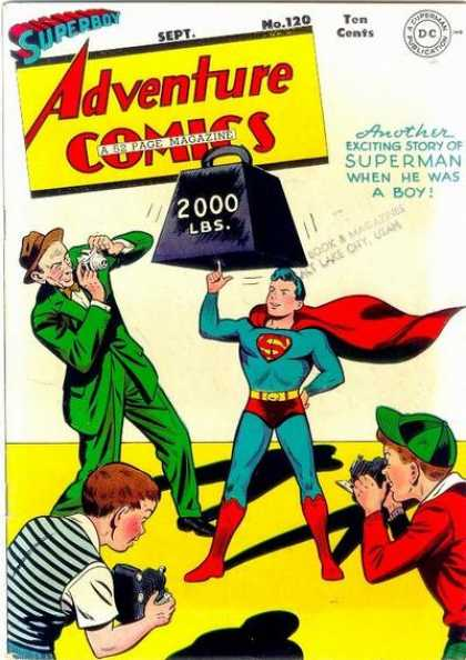 Adventure Comics 120 - Superman - 2000 Lbs - Camera - Adventure Comics - Boy