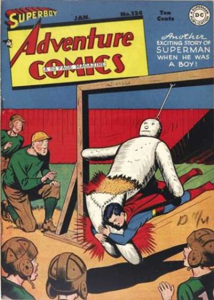 Adventure Comics 124 - Superboy - Football - Dummy - Superman