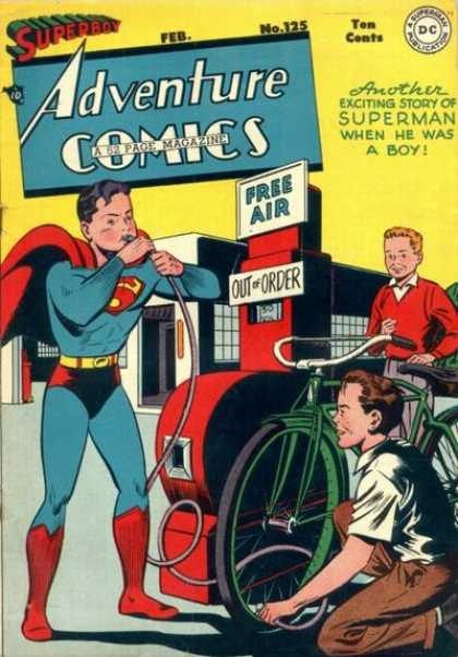 Adventure Comics 125 - Bicycle - Superboy - Boys - Air - Air Pump
