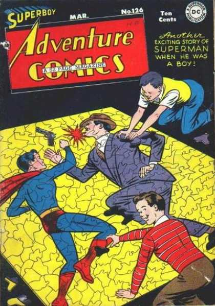 Adventure Comics 126 - Superboy - Puzzle - Ten Cents - Gun - Superman
