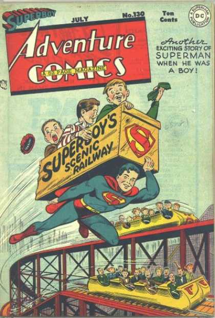 Adventure Comics 130 - Roller Coaster - George Roussos