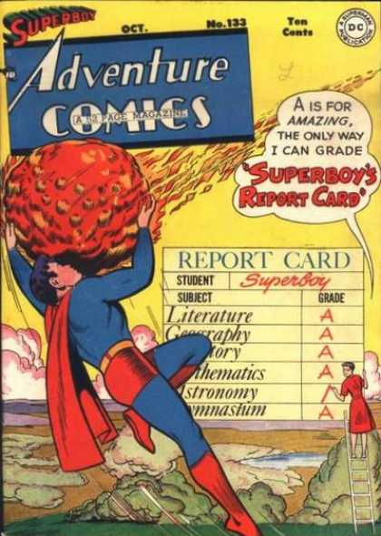 Adventure Comics 133 - Meteor - Superboy - Report Card - No 133 - Dc Comics - George Roussos