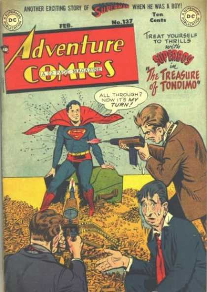 Adventure Comics 137 - Superman - Bullets - George Roussos