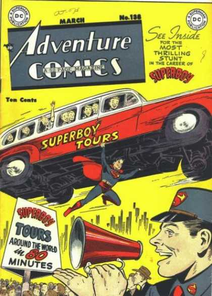 Adventure Comics 138 - Bus - Superboy - Megaphone - Ten Cents - March