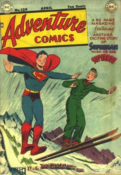 Adventure Comics 139 - Superman - Superboy - Ski Jump - Dc - April - George Roussos