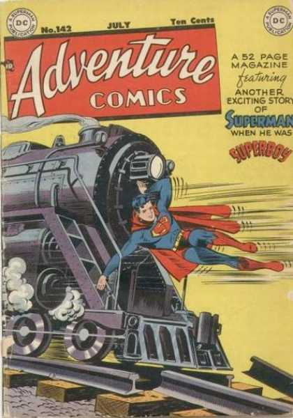 Adventure Comics 142 - Superboy - Train - Superman - Train Tracks - Smoke - George Roussos